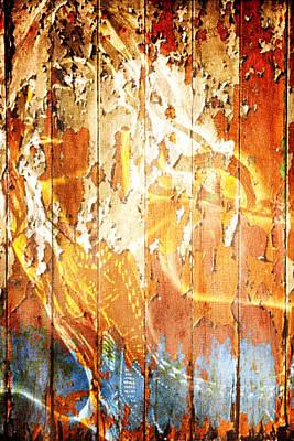 Digital Art - Peeling Wall Portrait by Andrea Barbieri