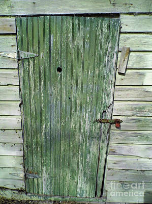 Photograph - Peep Hole In The Green Door by D Hackett