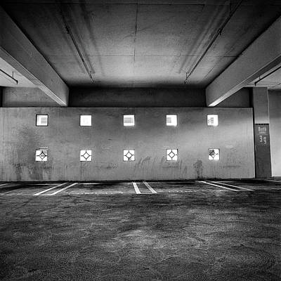 Photograph - Peep Holes Wall In Parking Structure by YoPedro