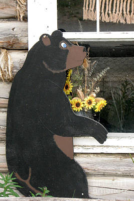 Photograph - Peeping Bear by Frank Townsley