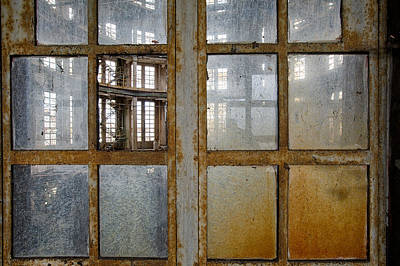 Peeping Inside Factory Hall - Industrial Decay Art Print by Dirk Ercken