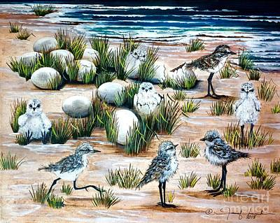 Painting - Peeps At The Beach by Jennifer Lake