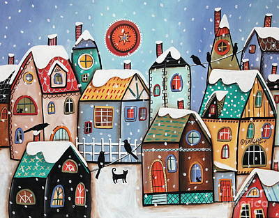 Winter Scenes Painting - Peering by Karla Gerard