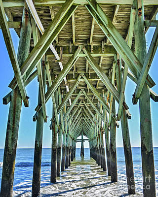 Photograph - Peering Under The Pier by Third Eye Perspectives Photographic Fine Art