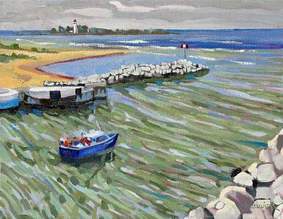 Phils Painting - Peerlessly Outbound by Phil Chadwick