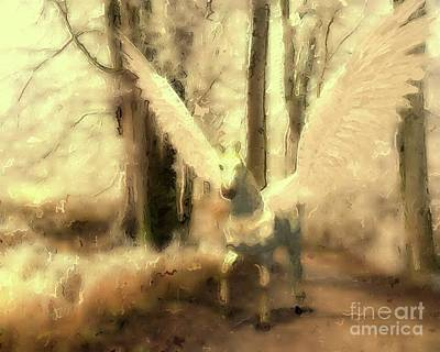 Fantasy Royalty-Free and Rights-Managed Images - Pegasus Comes by Mary Bassett