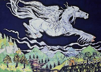 Pegasus Flying Over Stream Art Print
