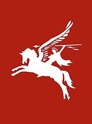 Pegasus In War Art Print by Kristin Elmquist