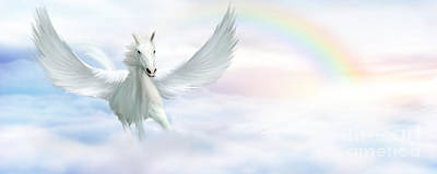 Fantasy Royalty-Free and Rights-Managed Images - Pegasus by John Edwards