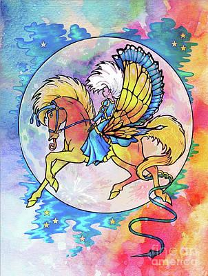 Pegasus Mixed Media - Pegasus Panache by Tammera Malicki-Wong