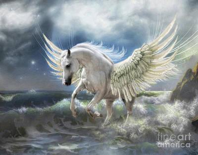 Digital Art -  Pegasus Rising by Trudi Simmonds
