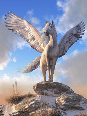 Digital Art - Pegasus The Winged Horse by Daniel Eskridge