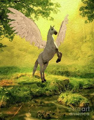 Pegasus Digital Art - Pegasus Vision by Mary Bassett
