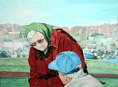 Painting - Peggy And Tom by Laurence Dahlmer