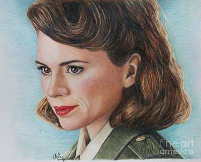 Drawing - Peggy Carter / Hayley Atwell by Christine Jepsen