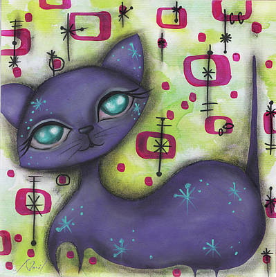 Painting - Peggy Cat by Abril Andrade Griffith