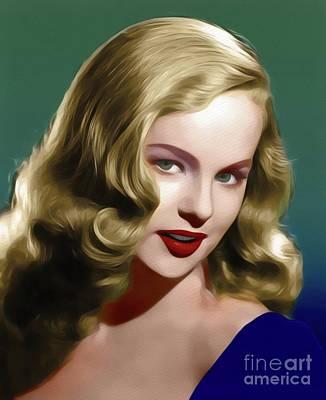 Painting - Peggy Cummins, Vintage Movie Star by John Springfield