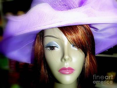 Digital Art - Peggy In Purple by Ed Weidman