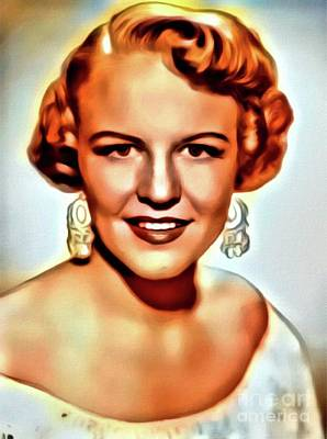 Jazz Digital Art - Peggy Lee, Music Legend. Digital Art By Mb by Mary Bassett