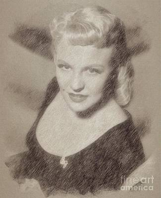 Fantasy Drawings - Peggy Lee, Singer by Frank Falcon