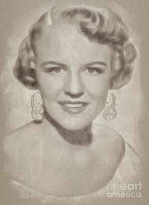 Singer Drawing - Peggy Lee, Singer by John Springfield