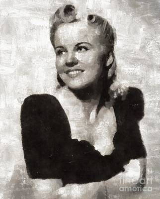 Elvis Presley Painting - Peggy Lee, Singer by Mary Bassett