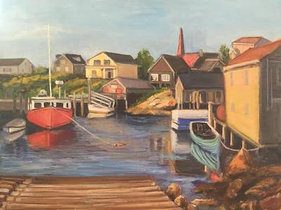 Painting - Peggy 's Cove, Halifax Nova Scotia, Canada  by Gloria Smith