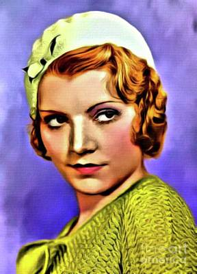 Singer Digital Art - Peggy Shannon, Vintage Actress. Digital Art By Mb by Mary Bassett