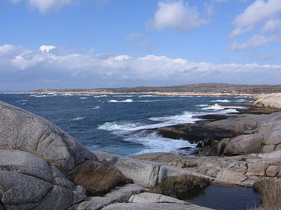 Photograph - Peggy's Cove Rocks by Karen J Shine