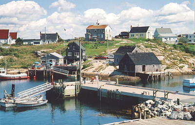 Peggy's Cove Art Print by Andrea Simon