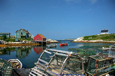 Photograph - Peggy's Cove At High Tide by Jean Hutchison