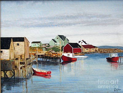 Peggy's Cove Art Print by Donald Hofer