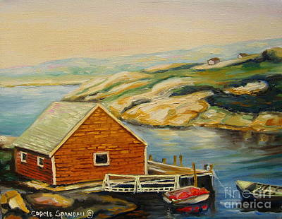 Painting - Peggys Cove  Harbor View by Carole Spandau
