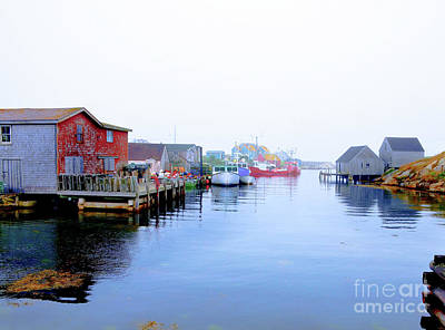 Photograph - Peggys Cove Inlet by Elaine Manley