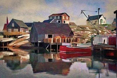 Digital Art - Peggy's Cove by Jeffrey Kolker