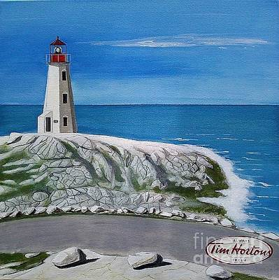 Painting - Peggy's Cove by John Lyes