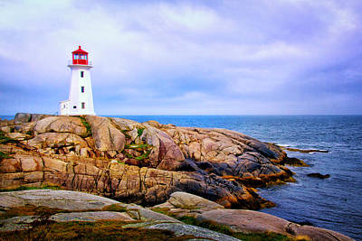 Photograph - Peggys Cove Lighthouse by Carolyn Derstine