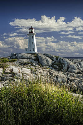 Photograph - Peggy's Cove Lighthouse In Nova Scotia by Randall Nyhof