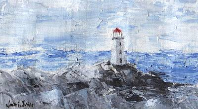Painting - Peggy's Cove Lighthouse by Jamie Frier
