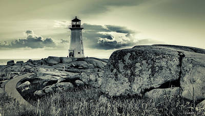 Photograph - Peggys Cove Lighthouse by Ken Morris