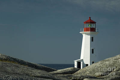 Lighthouse Photograph - Peggy's Cove Lighthouse, Nova Scotia, Canada by Dani Prints and Images