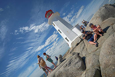 Digital Art - Peggy's Cove Lighthouse by Patrick Groleau
