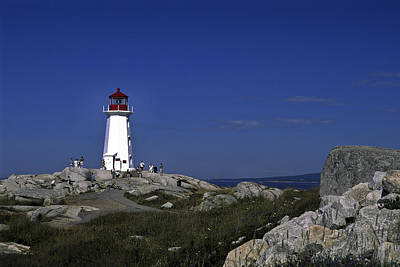 Peggy's Cove Lighthouse Art Print by Sally Weigand
