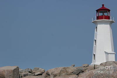 Photograph - Peggy's Cove Lighthouse by Wilko Van de Kamp