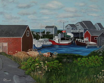 Wall Art - Painting - Peggy's Cove by Lisa MacDonald