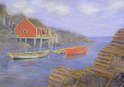 Photograph - Peggy's Cove Lobster Pots by Ian  MacDonald