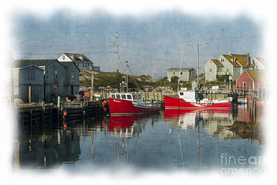 Art Print featuring the photograph Peggys Cove Marina by Dan Friend