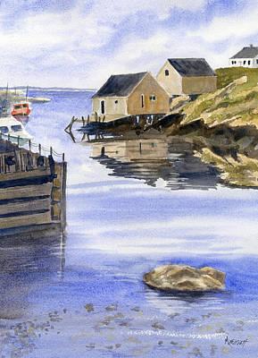 Peggys Cove Art Print by Marsha Elliott