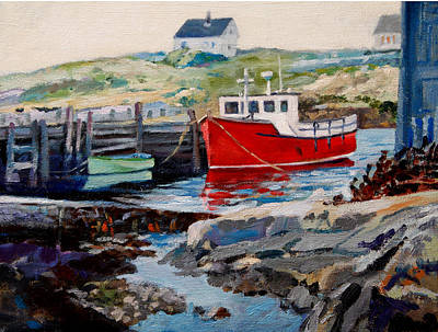 Painting - Peggys Cove by Michael McDougall