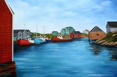 Peggys Cove Nova Scotia Art Print by Sharon Steinhaus